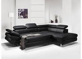 canapé d angle noir simili cuir canapé d angle solution avec fonction lit similicuir noir weba meubles