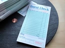 halloween personal checks 10 pages or pad restaurant waitress guest check receipt thank you