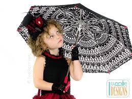 victorian goth steampunk style lace parasol pdf crochet pattern