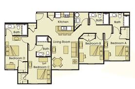 4 bed floor plans student apartments in athens oh the summit at coates run
