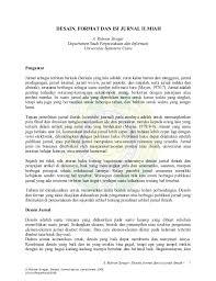format artikel yang benar format jurnal ilmiah