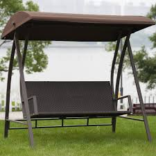 Glider Swings With Canopy by Amazon Com Porch Swing Outdoor Lounge Chair Seats 3 Patio Pe