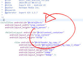 android layout width convert a psd to android xml ui and java export kit