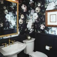 powder rooms with wallpaper black powder room photos hgtv