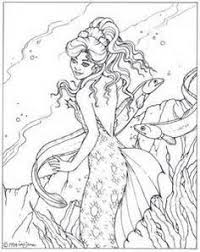 beautiful mermaid coloring pages mermaid and sea creatures coloring pages mermaid and dolphins