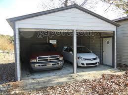building a 2 car garage metal garage two car 2