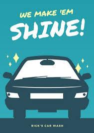 car wash flyer templates canva