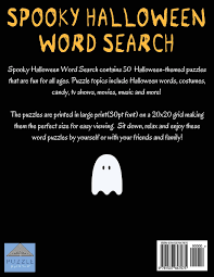 spooky halloween word search large print word search word search