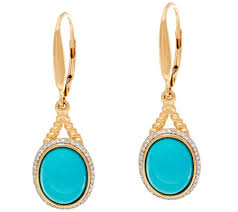 leverback earrings sleeping beauty turquoise rope design leverback earrings 14k