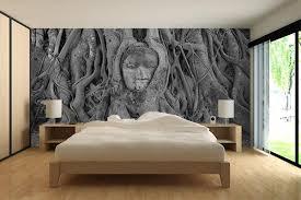 chambre papier peint papier peint décoration bouddha ayutthaya izoa