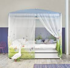 four poster bed with butterfly love canopy u2013 white by lifetime