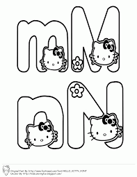 learning abc with hello kitty coloring pages to print