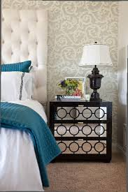 espresso nightstands and bedroom eclectic with contemporary