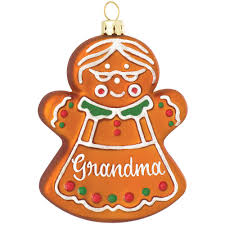 grandparent christmas ornaments personalized gingerbread glass ornament exclusive
