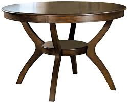amazon com coaster home furnishings nelms classic modern amazon com coaster home furnishings nelms classic modern transitional round dining table with storage shelf deep brown tables