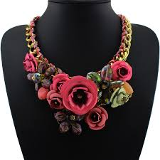 metal flower necklace images Paint metal flower necklace jpg