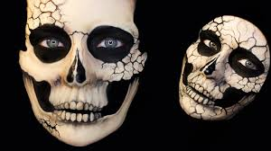 skeleton halloween face beautiful death skull series natural and cracked skulls 3 in 1