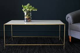 rectangular marble coffee table marble brass effect coffee table rectangular