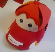 como hacer gorras de fomix del cars siguen llegando las gorras para las fiestas de cumpleaños cars
