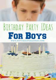 boy birthday cool birthday party themes