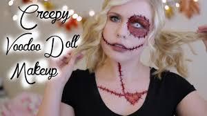 creepy voodoo doll halloween makeup tutorial youtube