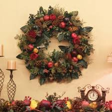 fruit flower arrangements christmas wreath with fruit and greenery silk flower