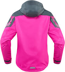 womens motorcycle jacket womens icon pink textile pdx 2 motorcycle riding rain jacket