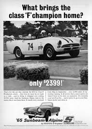 vintage porsche ad rootes group car club inc humber sunbeam hillman commer singer
