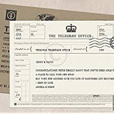 Telegram Wedding Invitation Vintage 1800s Personalised Telegram Wedding Invitation Save The