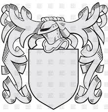 heraldic templates with helmet and shield medieval coat of arms