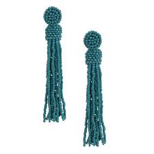 zad earrings zad jewelry marco beaded tassel drop earrings turquoise