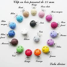 perle en bois pour attache tetine 2 pinces en bois attache tétine sucette passant 25 mm au