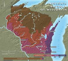 topo maps wisconsin wisconsin geologic bedrock map wisconsin mappery