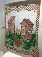 Outhouse Shower Curtain Hooks Unbranded Country Shower Curtains Ebay