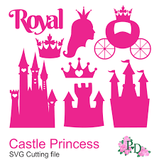 tropical cocktail silhouette royal dxf svg png castle princess cinderella cutting files for