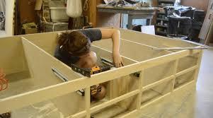 diy queen bed frame with drawer storage wilker dos arafen