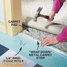 carpet to vinyl transition on concrete meze