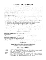 Technical Architect Sample Resume by Sofware Development Lead Resume Sample
