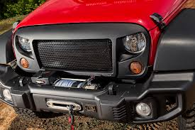 american flag jeep grill rugged ridge introduces new spartan grille and mesh inserts for