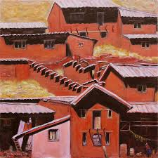Adobe Pueblo Houses Adobe House Paintings Page 2 Of 8 Fine Art America