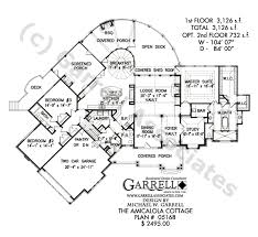 ranch style house floor plans amicalola cottage house plan active house plans