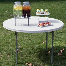 how many does a 48 inch round table seat round folding table 48 heavy duty plastic white granite