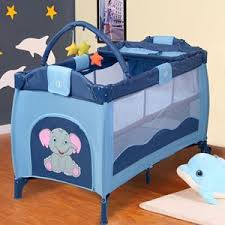 Baby Folding Bed Gym Equipment Portable Infant Baby Green Crib Playpen Bassinet Bed