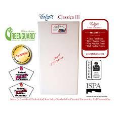 Colgate Classica Iii Foam Crib Mattress Colgate Classica Iii Dual Firmness Foam Crib Mattress Ebay