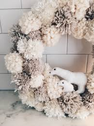 winter wonderland pom pom wreath u2013 twineandtable