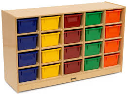 Childrens Storage Furniture by Childrens Cubbie Tray Storage Single Sided