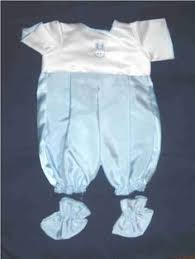 girls baby burial gown long white satin bow born 23 25 weeks
