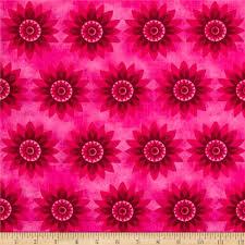calypso allover flowers fuschia pink from fabricdotcom designed