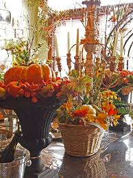 Brown And Orange Home Decor Orange Cream Pumpkins On The Black Vase And Brown Rattan Bucket