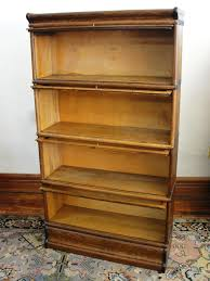 Macey Barrister Bookcase Antique Macey Oak 4 Section Stacking Barrister Bookcase From